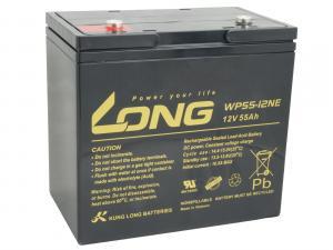 Long 12V 55Ah olověný akumulátor DeepCycle AGM F8 (WP55-12NE)