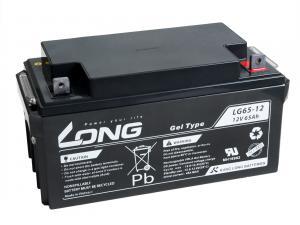 LONG baterie 12V 65Ah F4 DeepCycle GEL 10 let (LG65-12)