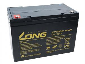 Long 12V 100Ah olověný akumulátor Deep Cycle AGM M6 (KPH100-12AN)