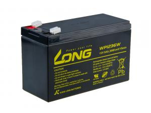 Long 12V 9Ah olověný akumulátor HighRate F2 (WP1236W)