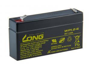 Long 6V 1,2Ah olověný akumulátor F1 (WP1.2-6)