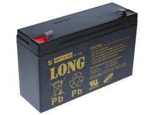 Long 6V 12Ah olověný akumulátor F1 (WP12-6S)