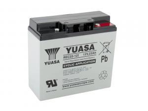 Yuasa 12V 22Ah olověný akumulátor DeepCycle AGM M5 (REC22-12I)