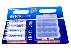 Nabíjecí baterie AA Panasonic Eneloop 1900mAh Ni-MH 4ks Blistr + CASE