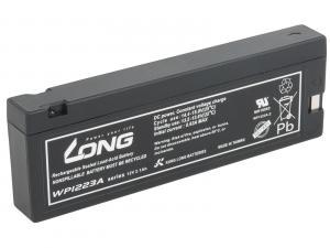 LONG baterie 12V 2,1Ah F13 (WP1223A) - olověný akumulátor pro AED, ECG, EKG, defibrilátory